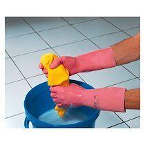 Mapa Paire de gants de ménage latex rose vital 115 mapa - lot de 10