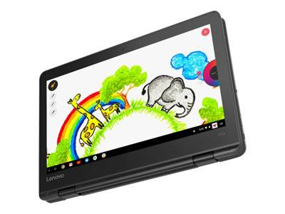 Lenovo 300e chromebook (1st gen) 81h0 - conception inclinable - mt8173c 1.3 g...