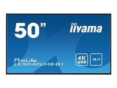 """Iiyama prolite le5040uhs-b1 - classe 50"""" écran del - signalisation numérique ..."""