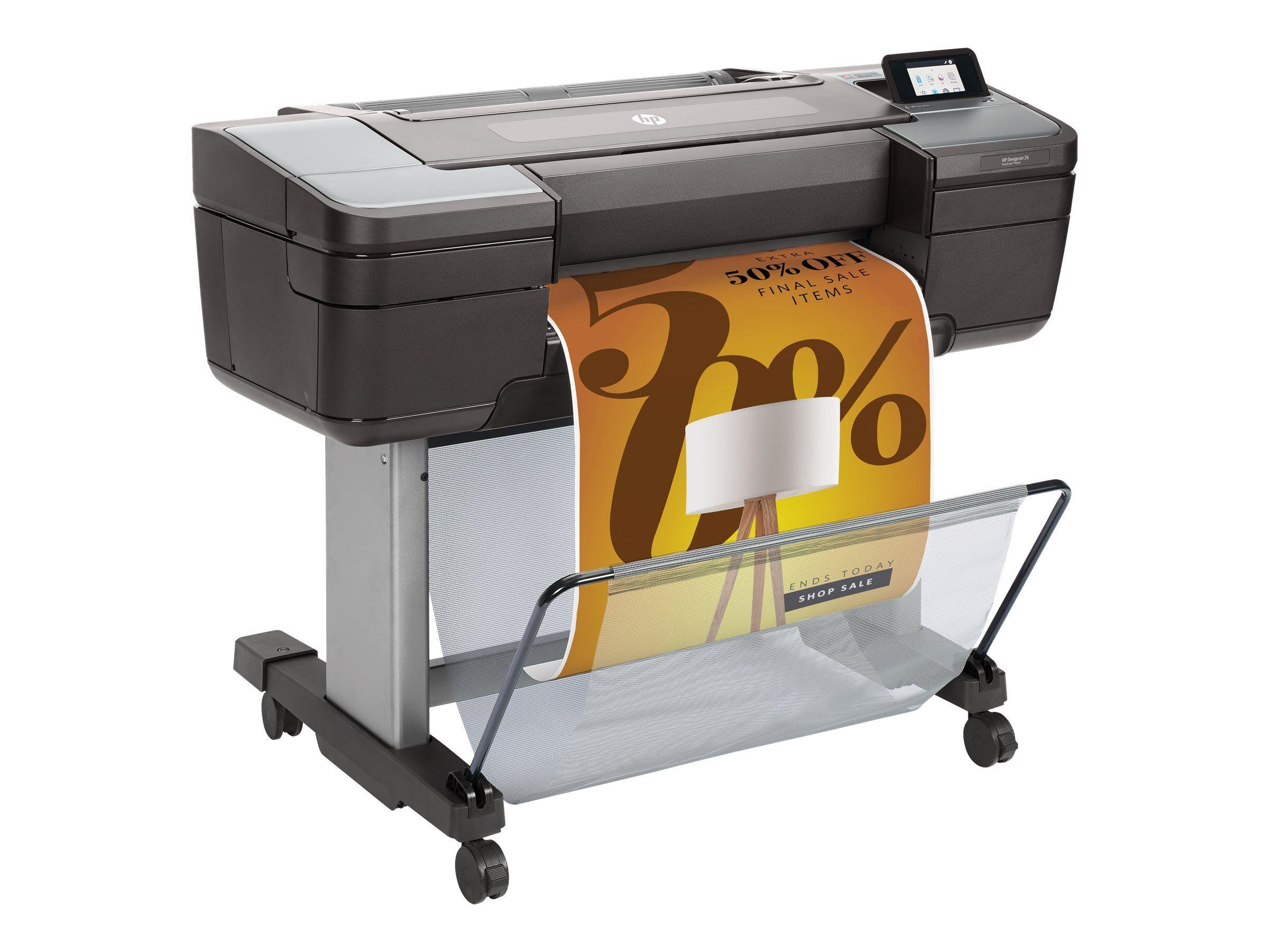 """Hp designjet z6 postscript - 24"""" imprimante grand format - couleur - jet d'en..."""