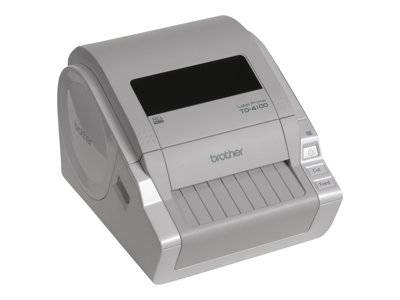 Brother td-4100n - imprimante d'étiquettes - papier thermique - rouleau a6 (1...