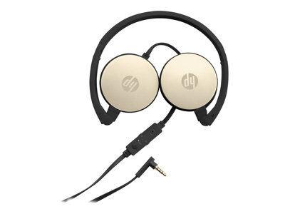 Hp h2800 - casque avec micro - sur-oreille - filaire - jack 3,5mm - or - pour...