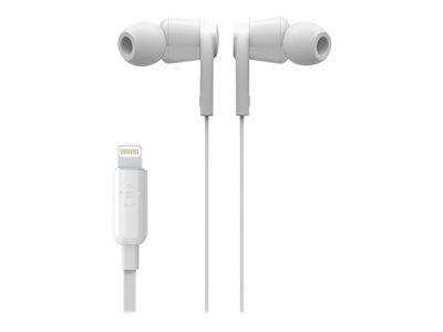 Belkin rockstar - écouteurs avec micro - intra-auriculaire - filaire - lightn...