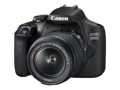 Canon eos 2000d - appareil photo numérique - reflex - 24.1 mp - aps-c - 1080p...