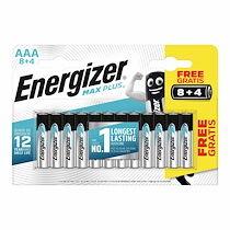 Energizer Pile alcaline aaa - 8 piles lr3 energizer max plus + 4 offertes