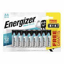 Energizer Pile alcaline aa - 8 piles lr6 energizer max plus + 4 offertes