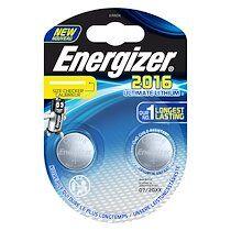 Energizer Pile bouton ultimate lithium cr2016 energizer - blister de 2 piles