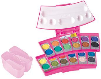 Boîte de peinture procolor 735, 24 couleurs, rose