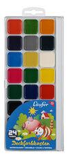Boîte de pastilles de peinture, 24 couleurs - lot de 5