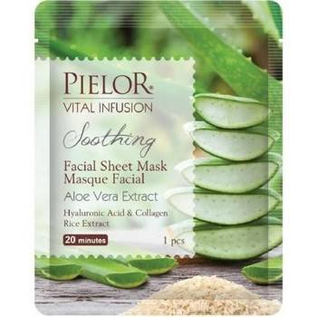Pielor Masques & gommages Masque visage tissu Apaisant aloe vera 25ml