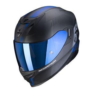 Scorpion Exo 520 Air Laten Matt Black Blue + Kit Bluetooth SMH5 Solo - Publicité