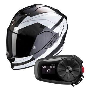 Scorpion Exo 1400 Air Carbon Legione White + Kit Bluetooth Sena 5S Solo - Publicité
