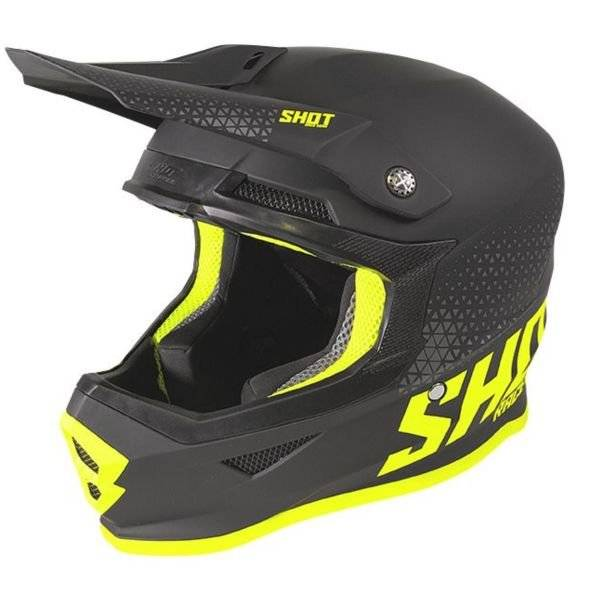 SHOT Furious Raw Black Neon Yellow Matt