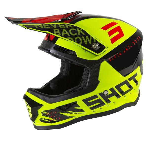 SHOT Furious Draw Neon Yellow Black Red Glossy Enfant