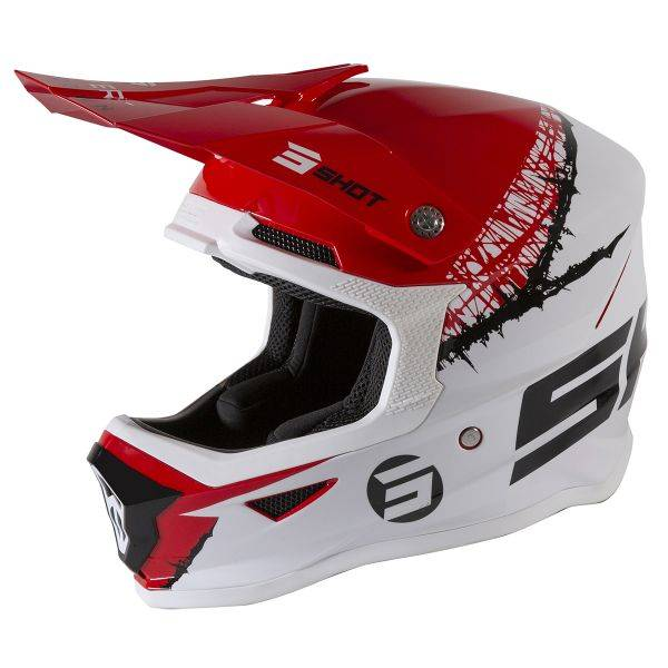 SHOT Furious Storm Red White Glossy Enfant
