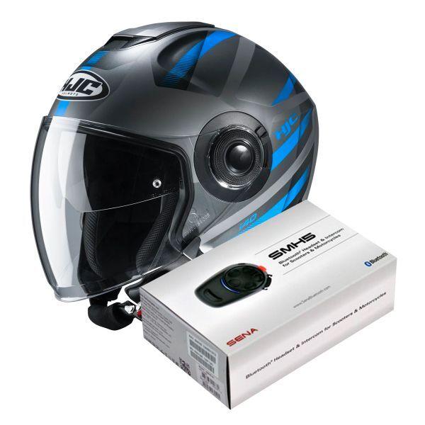 HJC I40 Remi MC2SF + Kit Bluetooth Sena SMH5