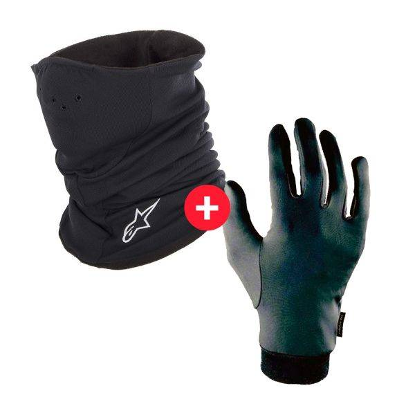 Alpinestars Tech Neck Warmer Black + Sous-Gant Zirtex Noir