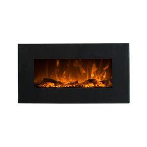 FLAMATECH Cheminée électrique CHANDELA - Murale - L84 x P14 x H45 cm - Noire - Publicité