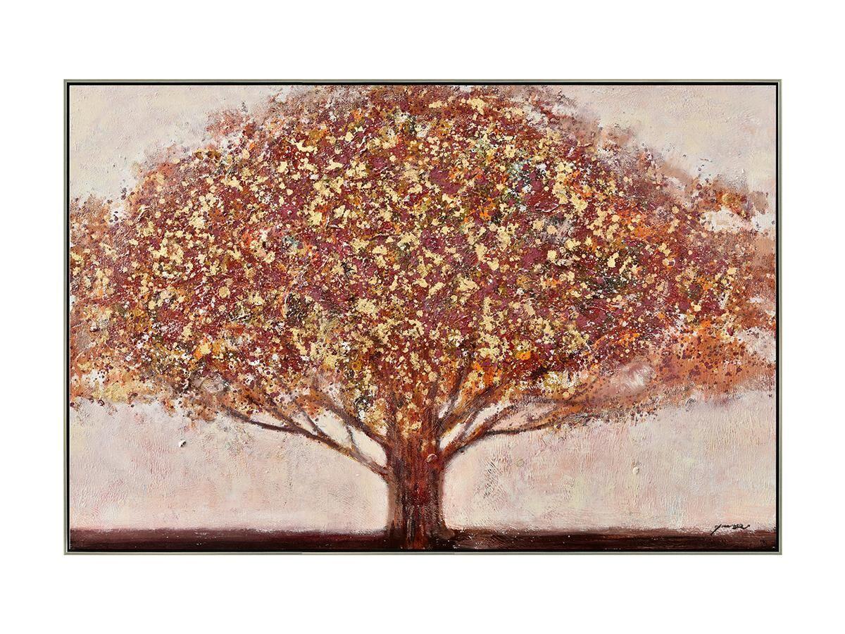 Vente-unique Peinture à l'huile peinte main style campagne AUTUMN - 70 x 140 cm - Orange