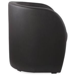 Fauteuil cabriolet de salon 'MAX' en matière synthétique noire - Publicité