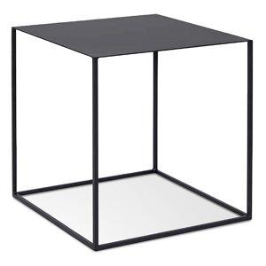 Table d'appoint design 'BONUS' en métal noir - Publicité