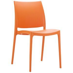 Chaise design 'ENZO' orange - Publicité
