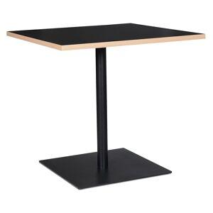 Table carrée 'FUSION SQUARE' noire - 80x80 cm - Publicité