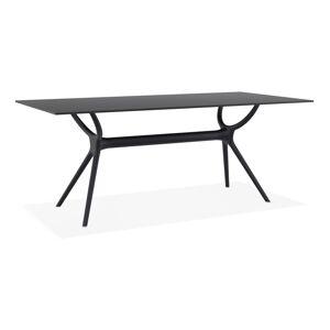 Table interieur/exterieur 'OCEAN' design en matière plastique noire - 180x90 cm - Publicité