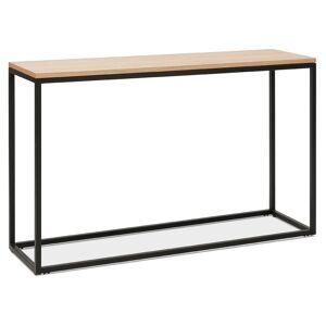 Table console style industriel 'RIVER' en bois finition naturelle et métal noir - Publicité