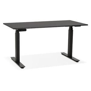 Bureau assis debout électrique 'TRONIK' noir - 140x70 cm - Publicité