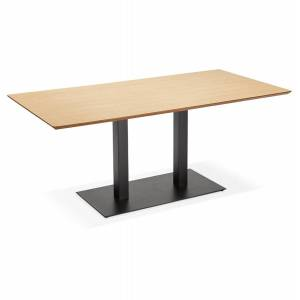 Table / bureau design 'ZUMBA' en bois finition naturelle - 180x90 cm - Publicité