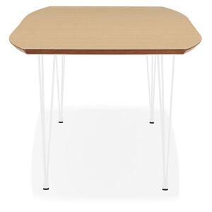 Table à dîner / de réunion extensible 'DOKIDO' en bois finition naturelle - 170(270)x100 cm - Publicité