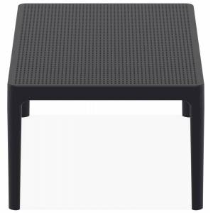 Table basse de jardin 'DOTY' noire design - 100x60 cm - Publicité