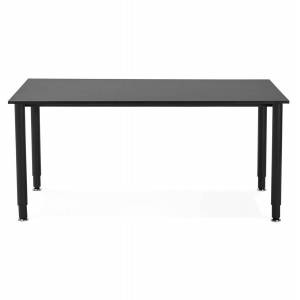 Table de réunion / bureau design 'FOCUS' noir - 160x80 cm - Publicité