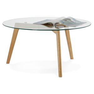 Table basse de salon ronde 'GLAZY' en verre - Publicité
