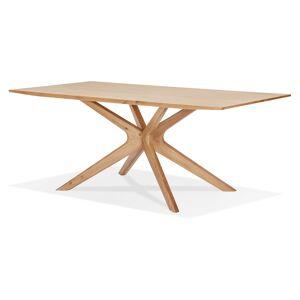 Table de salle à manger 'MANITOU' en chêne massif - 195x95 cm - Publicité