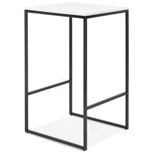 Table haute style industriel 'ORTOS' avec plateau blanc et structure noire idéale pour les professionnels - Publicité