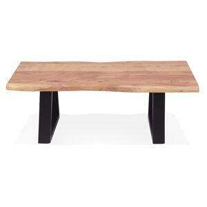 Table basse de salon 'RAFA' en bois massif et métal - Publicité