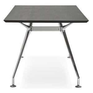 Grand bureau / table de réunion 'STATION' en bois peint noir - 180x90 cm - Publicité