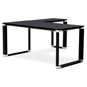 Bureau de direction en angle design 'XLINE' en bois noir (angle au choix) - 160 cm - Publicité