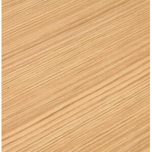 Bureau droit design 'XLINE' en bois finition naturelle et métal blanc - 160x80 cm - Publicité