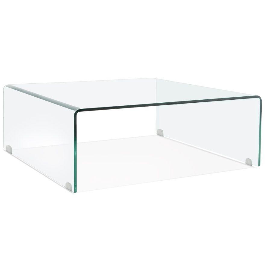 Table basse de salon 'BOBBY LOUNGE' en verre transparent