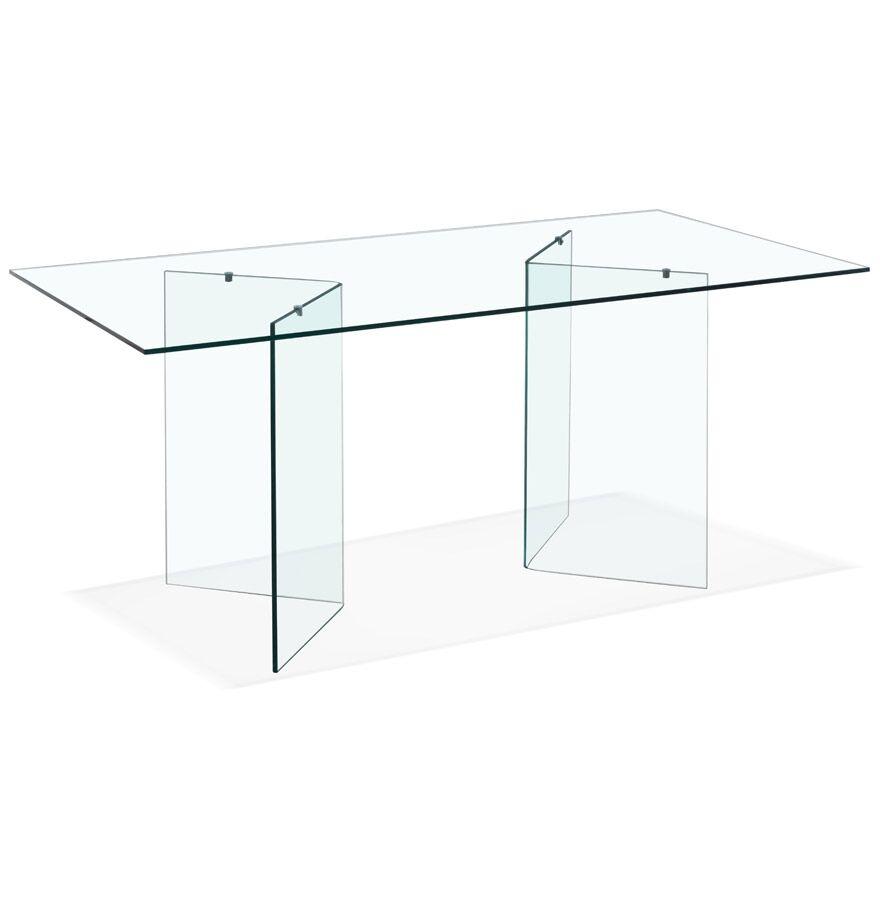 Bureau / Table de salle à manger en verre 'BOBBY TABLE' design - 180x90 cm