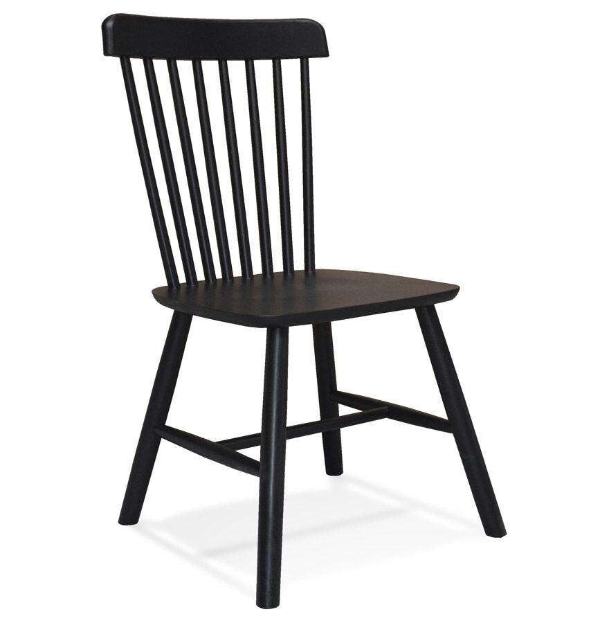 Chaise design 'MONTANA' en bois noir - commande par 2 pièces / prix pour 1 pièce