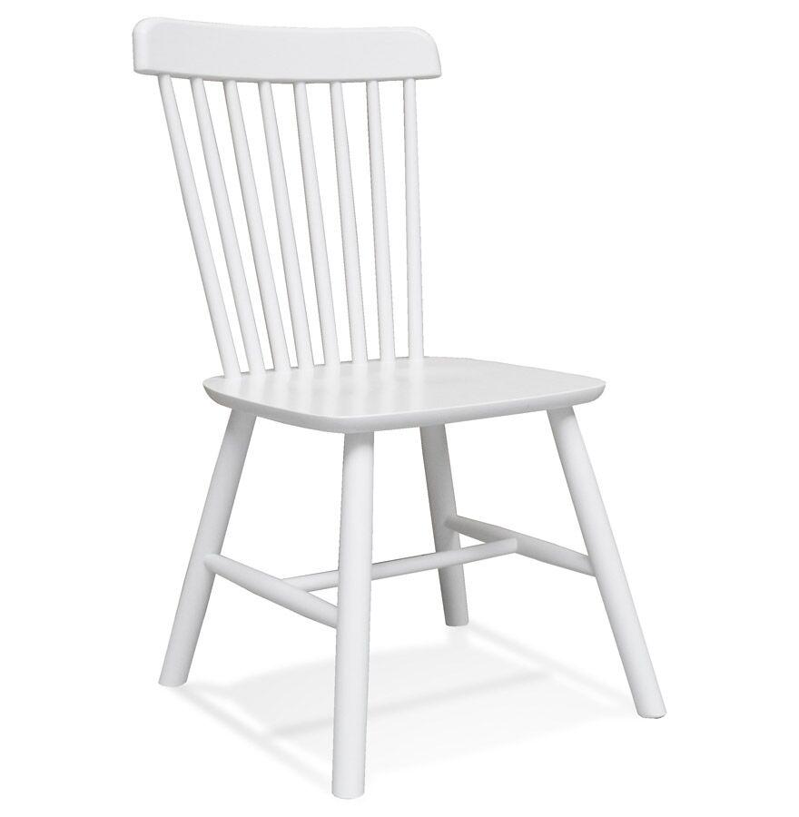 Chaise design 'MONTANA' en bois blanc - commande par 2 pièces / prix pour 1 pièce
