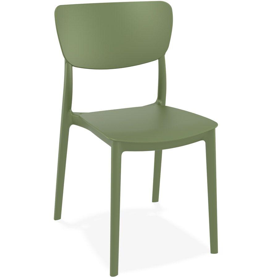 Chaise de cuisine 'OMA' en matière plastique verte