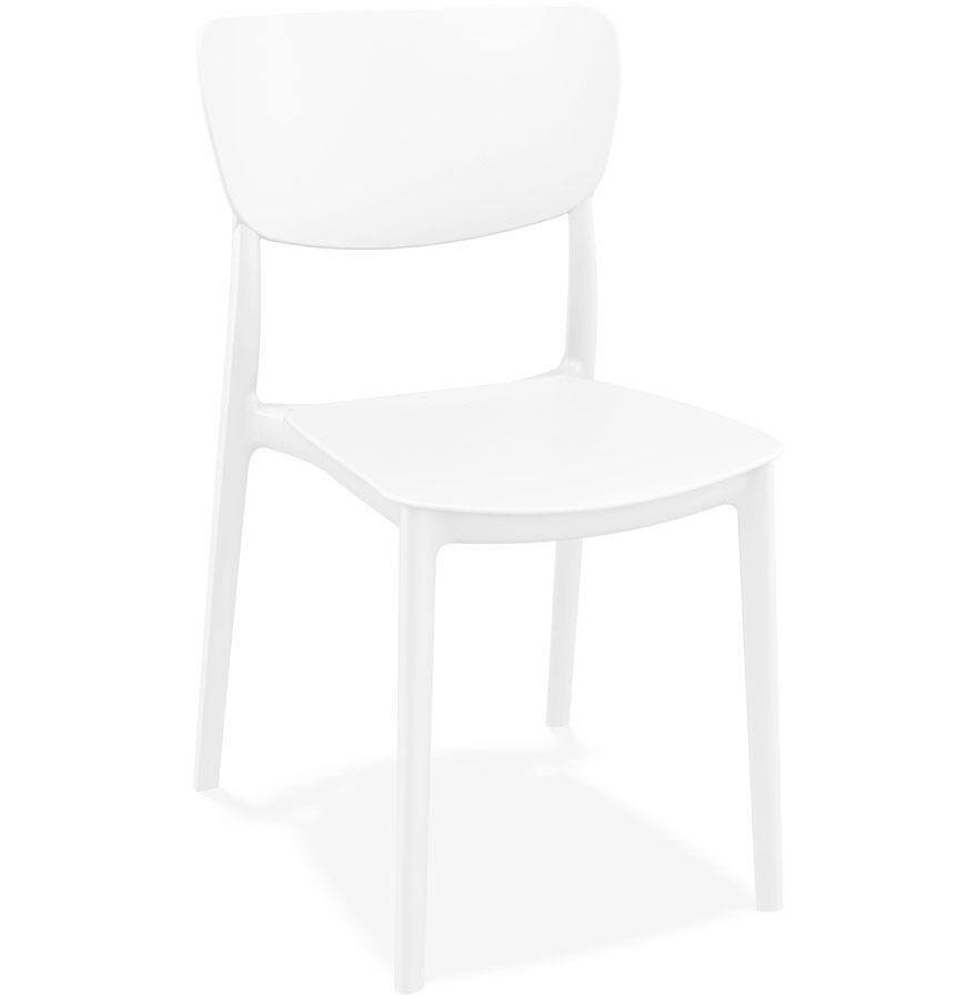 Chaise de cuisine 'OMA' en matière plastique blanche