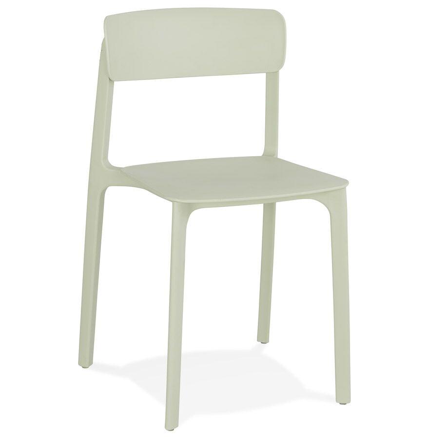 Chaise intérieur / extérieur empilable 'TROPICAL' en matière plastique vert pastel