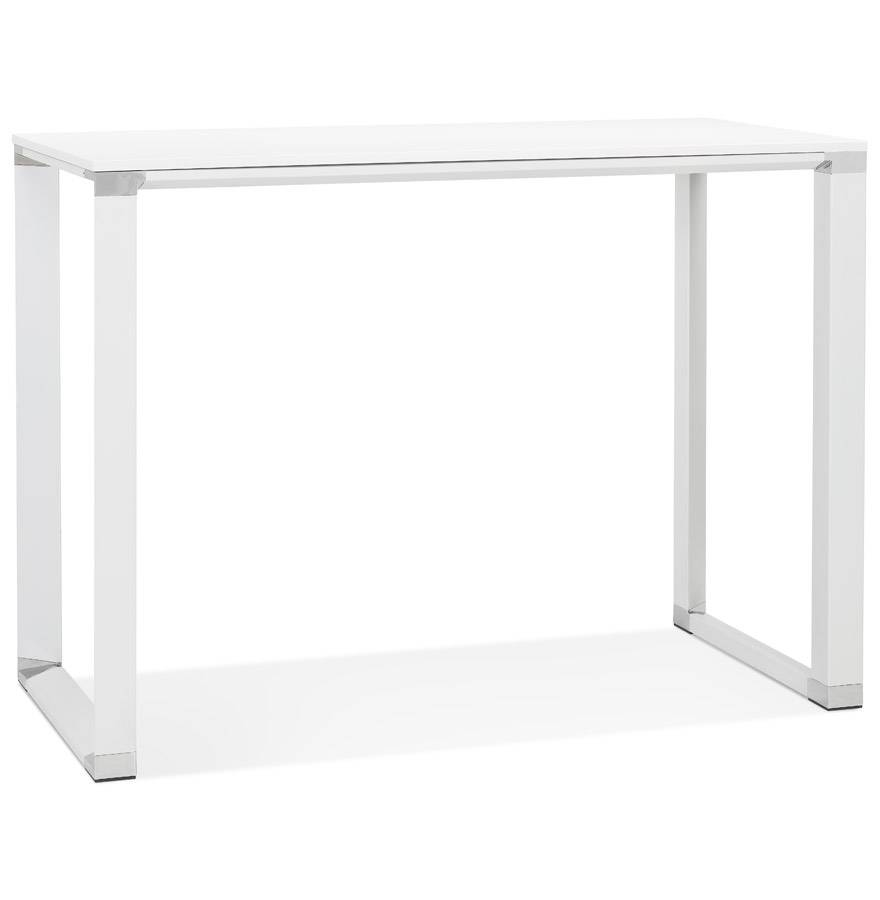 Table haute / bureau haut 'XLINE HIGH TABLE' en bois blanc - 140x70 cm