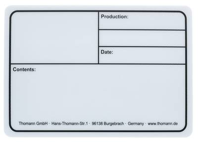 Stairville Tourlabel 177x127mm White